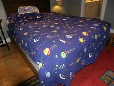 COMPANY STORE Twin Duvet SET Planets / Moon / Space Kids Navy Fitted+PC+Sheet