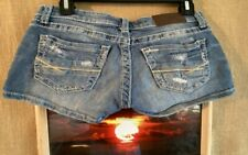 BKE denim Stella women's short light blue distressed size 25