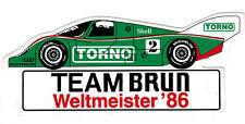 Team Brun Porsche TORNO Nr. 2  Sticker Aufkleber