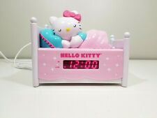 Sanrio Hello Kitty Dual Alarm Clock Fm/Am Radio Bed With Night Light Pre-Owned