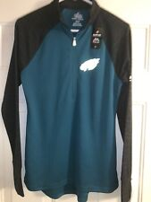 PHILADELPHIA EAGLES NFL MAJESTIC 1/4 ZIP LIGHTWEIGHT SHIRT WOMENS SMALL NWT