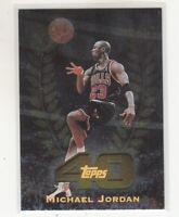 MICHAEL JORDAN 1997-98 Topps 40 T40 Foil Insert #5  Chicago Bulls The Last Dance