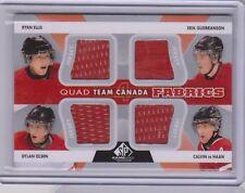 ELLIS GUDBRANSON OLSEN HAAN 2012-13 SP Game Used Quad Team Canada Jersey Fabrics
