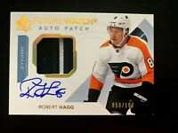 2017-18 SP Authentic Limited Patch Autographs #156 Robert Hagg FW/100