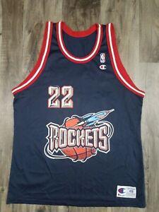Houston Rockets #22 Clyde Drexler NBA Basketball Champion Jersey Mens Size 48 XL