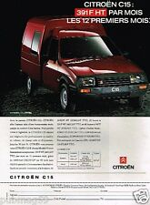 Publicité advertising 1991 Fourgonnette camionnette Citroen C15