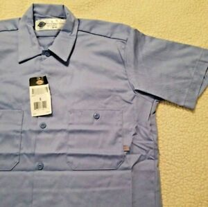 DICKIES New Men's 2-Pocket Quality 100% Cotton Work Shirts  MSRP $35 LS307LB S