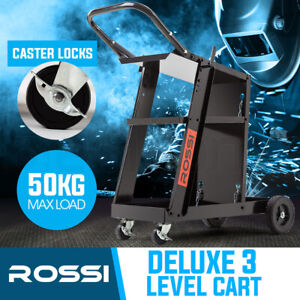 【EXTRA10%OFF】ROSSI Welding Cart Trolley MIG TIG ARC MMA Welder Plasma Cutter