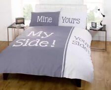 Linge de lit et ensembles gris fantaisie pour chambre à coucher