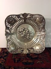 BEAUTIFUL LARGE BOWL WITH PUTTI AND ROSES MADE OF 800 Silver