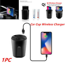 1PC Car Wireless Cup Phone Mount Charger w/ USB Charging Dock for Iphone X/8 S8