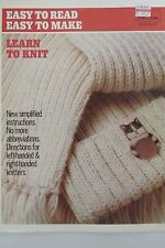LEARN TO KNIT EAST TO READ EASY TO LEARN DIRECTIONS FOR LEFT-HANDED & RIGHT-HAND