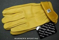 DEER SKIN NATURAL TANNED UNLINED MEN'S GLOVES (S - XXXL)  imported UNLINED