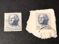 Lot Of 2 1966 USPS George Washington 5 Cent Stamp