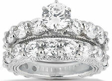 6.83 carat Engagement ROUND DIAMOND RING BAND BRIDAL SET, G color SI2 clarity