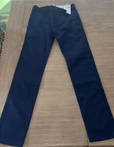 NWT Abercrombie Kid Boy Chino Pant-11/12 Slim Adjustable Waist BACK SCHOOL RV 50