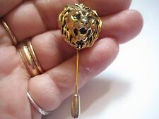 Anne Klein Lion Stick Pin in Gold Tone Metal