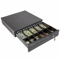 Cash Drawer Tray Square Register w/ Removable Coin Slot Key-Lock for POS Sys CA1