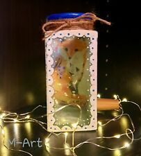 Home decor decoupage decorative jar with fox