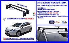 Barre Portatutto Portapacchi - Portabagagli - Fiat Grande Punto 5 Porte 2005>