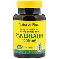 Nature's Plus, Pancreatin, 1000 mg, 60 Tablets