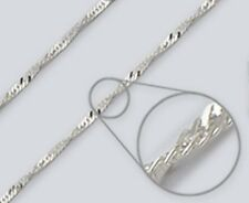 Wave Chain Anklet - 2.4mm*, 10 inch* - Sterling Silver - Made in Italy