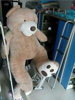 Giant Hung Big Teddy Bear Plush Soft Toys Doll No Cotton Just Cover Gift 130cm @
