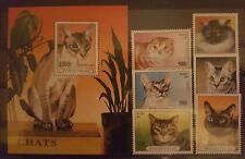 Briefmarken Katzen Togo Bl.+satz ,postfrisch