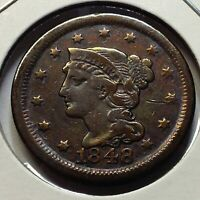 1848 LARGE CENT FROM OLD TYPE COIN COLLECTION