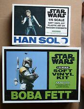 Star Wars Maquette Figurine Soft Vinyl Boba Fett + Han Solo 1/6 Kaiyodo