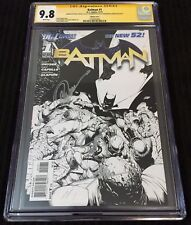 Batman New 52 #1 1:200 Sketch Variant CGC 9.8 SS TRIPLE SIGNED Snyder Capullo JG