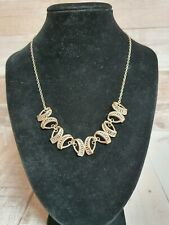 Sterling silver cluster necklace 925 11.55g