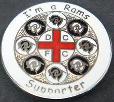 Derby County FC je suis un Rams partisan badge broche épingle en chrome 29 mm Dia