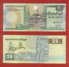 Egypt 20 Egp Pound 1997 Pick  52c Sign : Ismail Hasan +++EX.F 1 Pcs