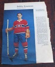 Bobby Rousseau No. 1 issue Weekend Magazine Photos 1963 -1964 Toronto Star