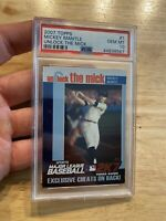 MICKEY MANTLE PSA 10 GEM 💎 MINT Collector Card Topps #1 New York Yankees INVEST