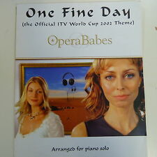 piano solo ONE FINE DAY, Opera Babes, the official ITV world cup theme