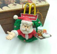 Vintage 1996 Matrix McDonalds Christmas Tree Ornament Santa On Wreath Big Mac 🎄