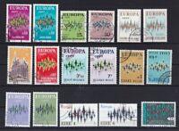 Europa CEPT gestempelt Jahrgang 1972  ohne MiNr. 71 Andorra spanische Post