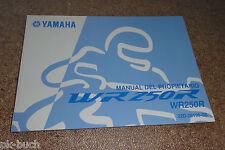 Manuel Del Propietario Yamaha Wr 250 R Stand 11/2007