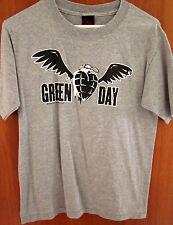 GREEN DAY punk rock juniors lrg T shirt American Idiot grenade logo tee distress