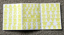 CREATIVE MEMORIES YELLOW BOLD ABC STICKERS BN & NLA