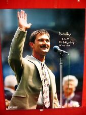 NY YANKEE GREAT DON MATTINGLY SPECIAL 16 X 20 PICTURE WITH 3 SPECIAL AUTOGRAPHES