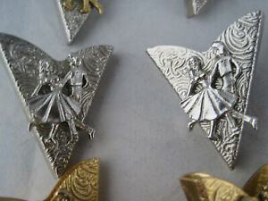 Metal Collar Clips - Made In USA - Line Dancing - Eagle - Squares - Pick A Set