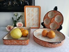 Floral Lace Pumpkin by Temp tations - 4 Piece Multi-functional Bake-ware Set