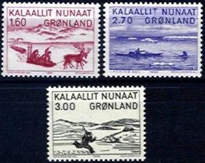 Greenland 1980 - 82 Art, Reindeer, Walrus, Sledge, Hunting, Canoe UNM / MNH