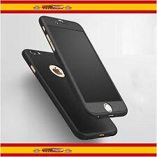 """Funda 360º iPhone 6 de 4,7"""" Negro + Cristal Templado"""