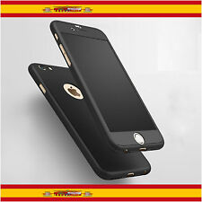 "360 Funda Carcasa Case + Protector Cristal Templado Para iPhone 6 6s 4.7"" Negro"