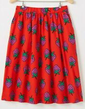 NWT HANNA ANDERSSON Chasing Summer Skirt Tangy Red Strawberries Sz 110 5 NEW $46