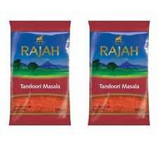 2x RAJAH TANDOORI MASALA POWDER MIX 100g HIGH QUALITY INDIAN MIXED SPICES